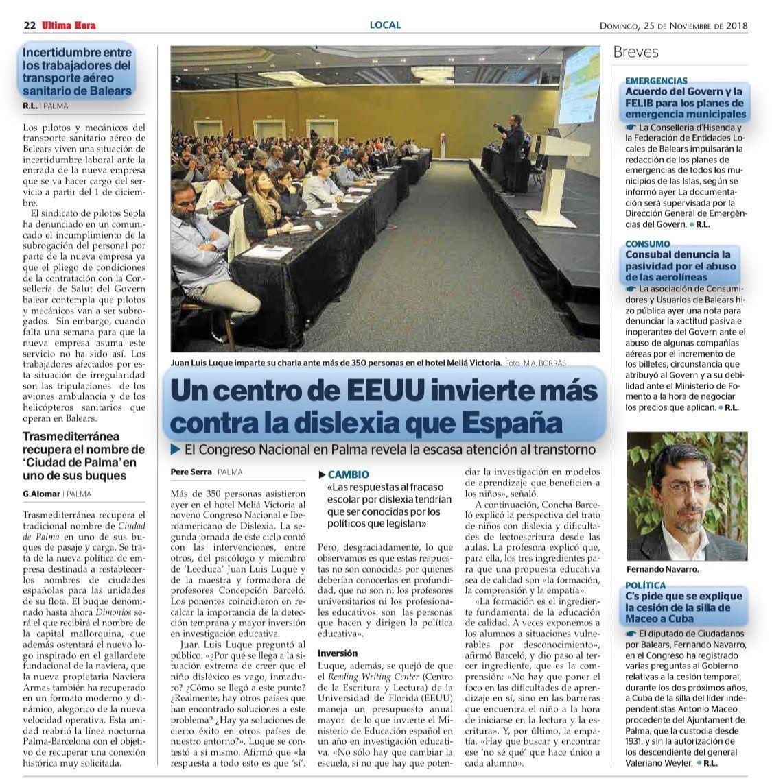 Un centro de EEUU invierte más contra la dislexia que España