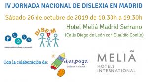 IV Jornada Nacional de Dislexia @ Hotel Melia Madrid Serrano